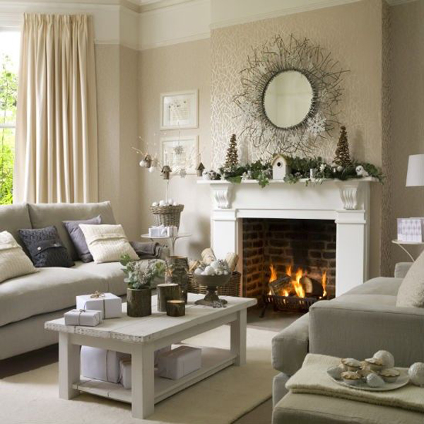 25 Stunning Home Interior Designs Ideas: 25 Awesome Christmas Living Room Ideas