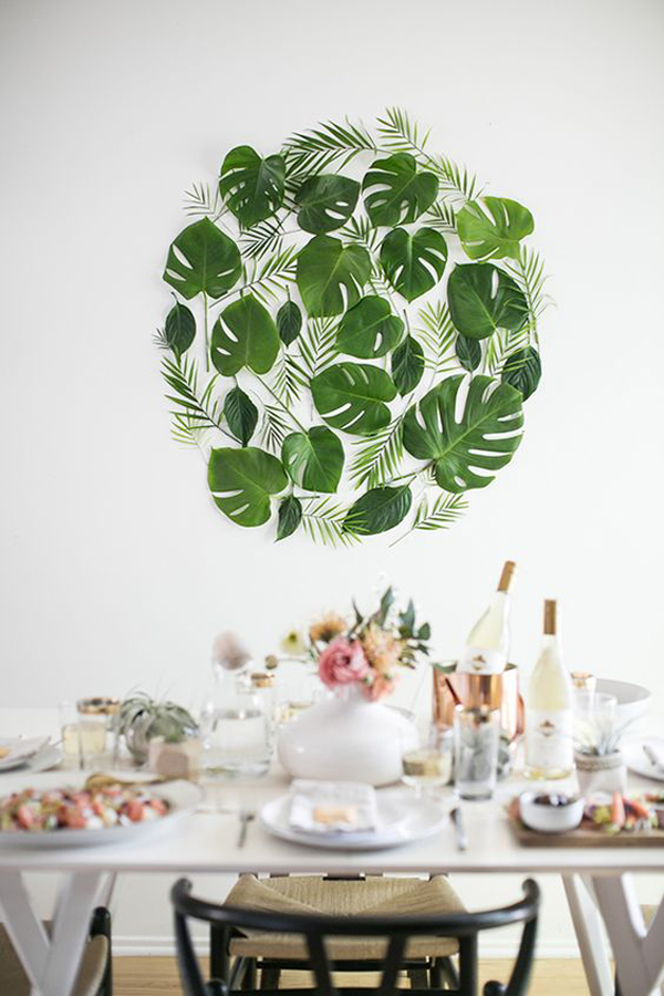 20 Tropical Leaf Decor Into Your Interior
