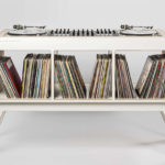 Inspiring 1960s Hoerboard DJ Stand With Record Storage Space