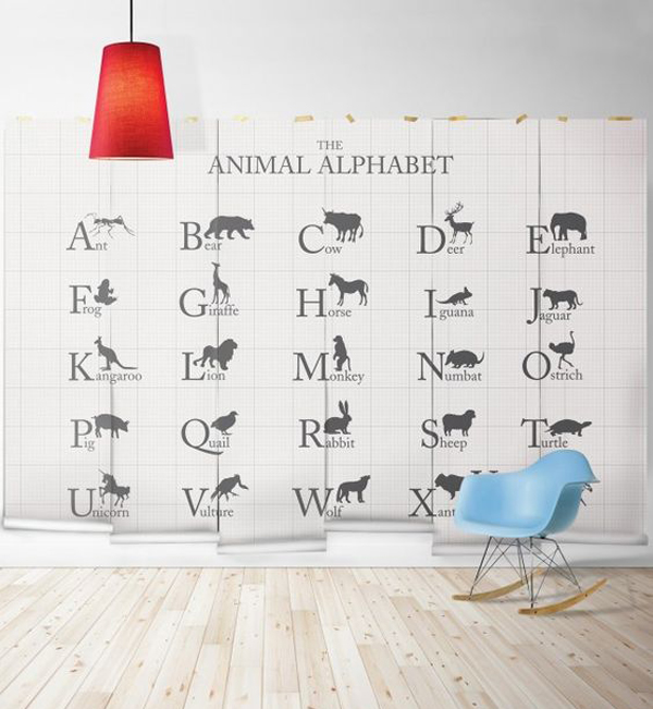 Modern Animal Alphabet For Kids Learning Wallpaper