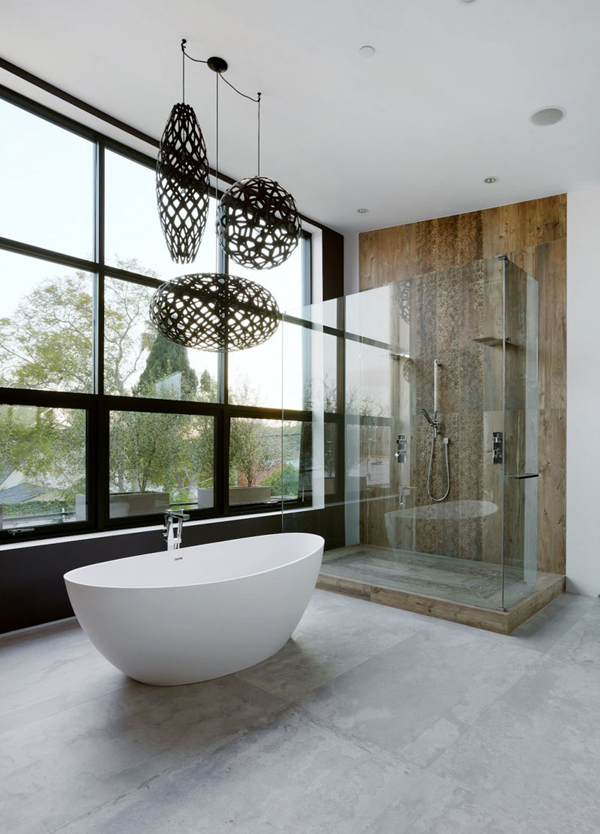 20 natural concrete floors for your beautiful space for Modern bathroom flooring