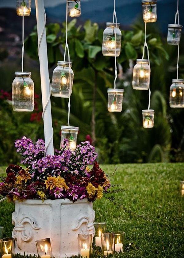 Diy Shabby Chic Lighting Jars