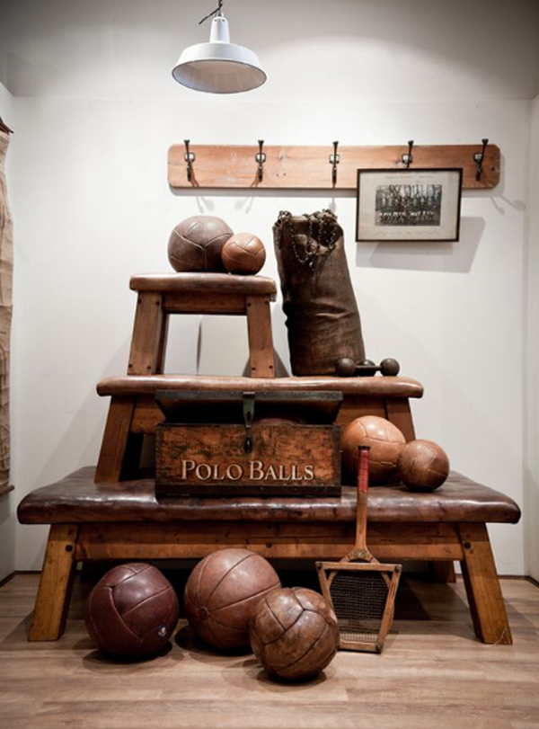 Man Cave Vintage Decor : Vintage sport decorations for man cave house design