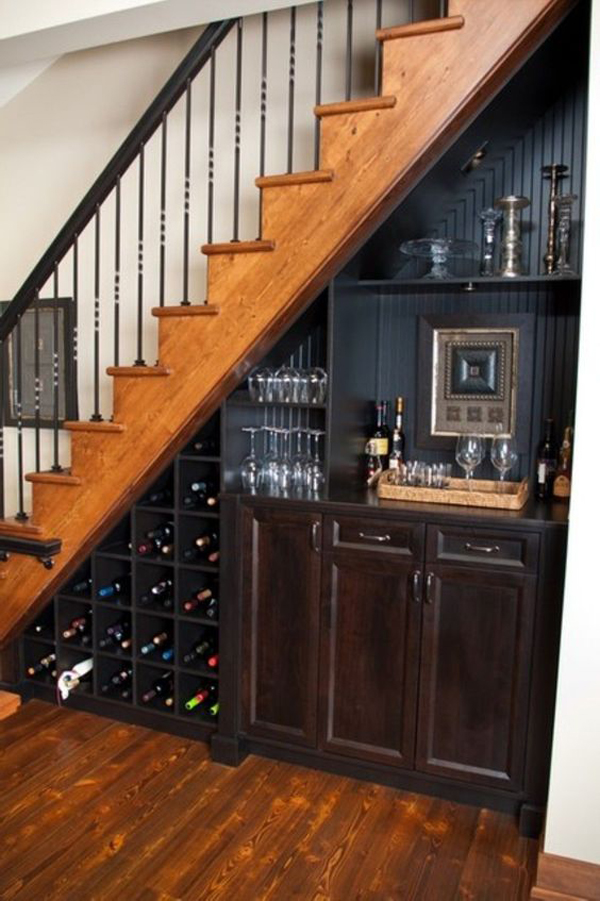 25 clever wine cellar storage in under the stairs house for Dining room under stairs