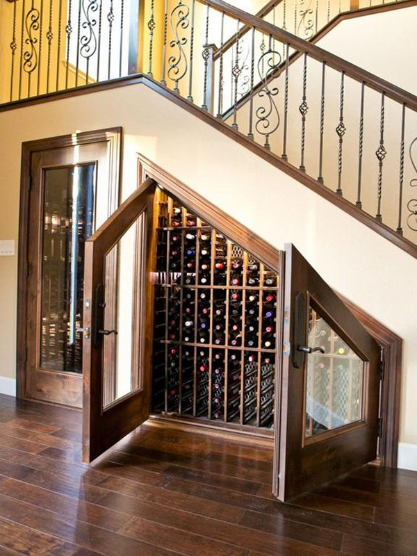 under stairs wine rack cabinet