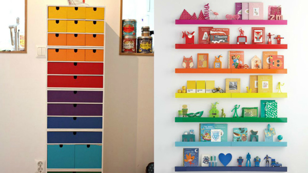 20 cheerful rainbow colors for your home decor house for Color collage ideas