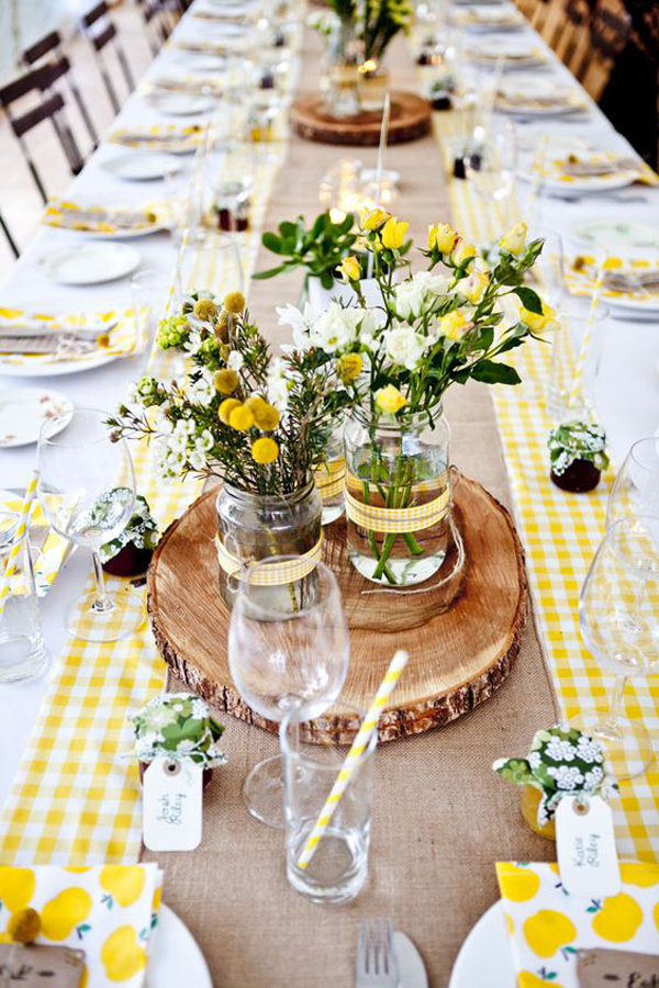 Cheerful Summer Table Decor With Yellow Theme
