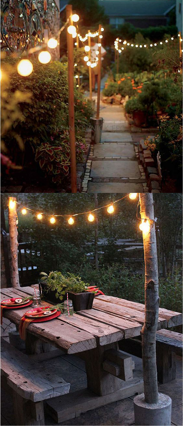 10 simple diy fairy lights to beautify your garden house design
