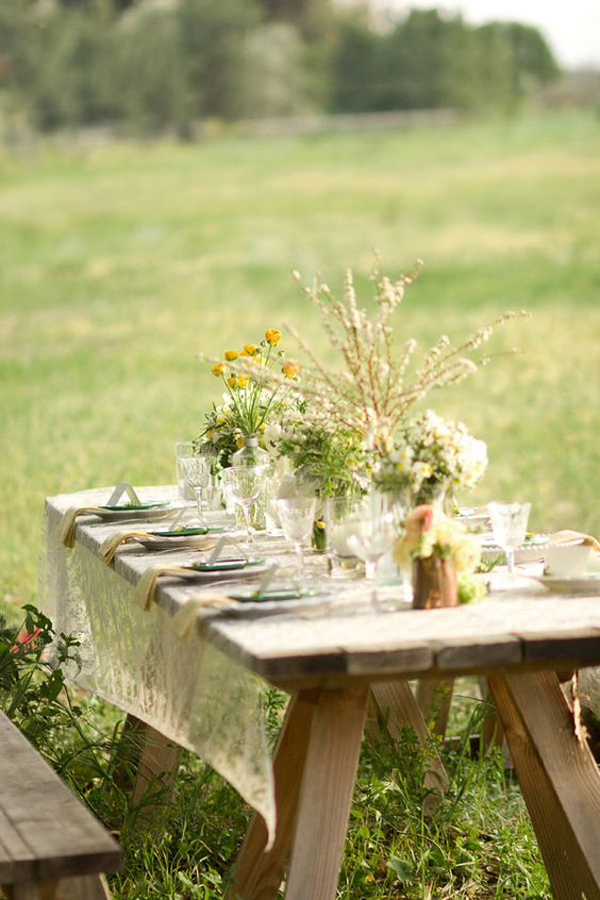 20 rustic table setting ideas to summer celebrate house. Black Bedroom Furniture Sets. Home Design Ideas