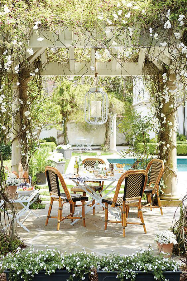 20 Cozy and Romantic Pergola Decor Ideas | House Design ... on Romantic Backyard Ideas id=24906