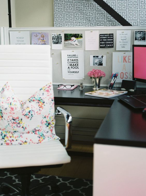 20 creative diy cubicle workspace ideas house design and for Decorating work office ideas