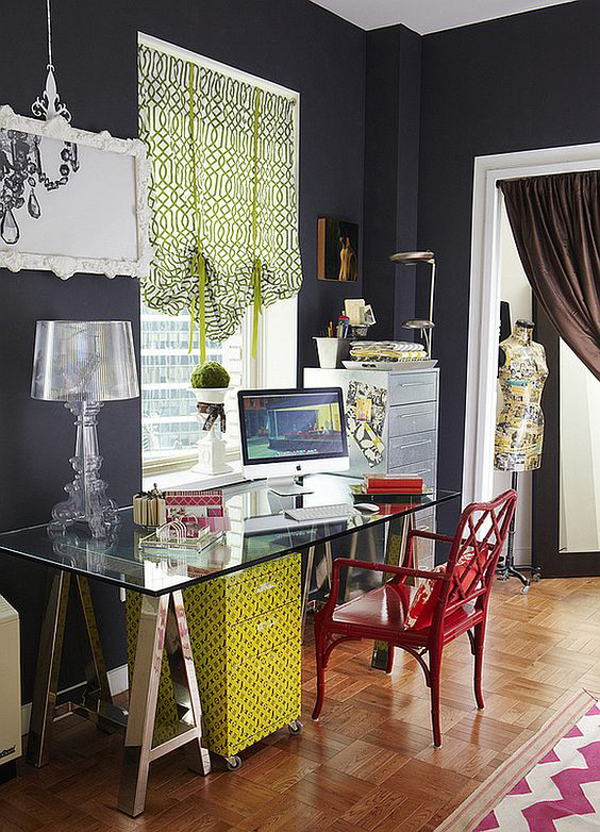 20 feminine glass desks for modern workspaces house for Small room rental