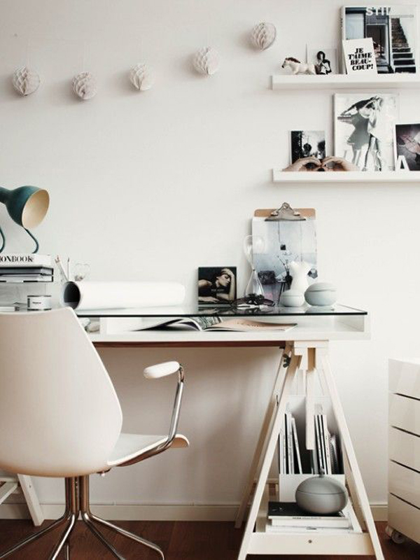 20 feminine glass desks for modern workspaces house