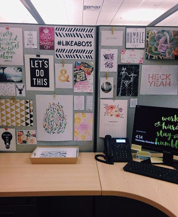 20 creative diy cubicle workspace ideas house design and Cubicle bulletin board ideas