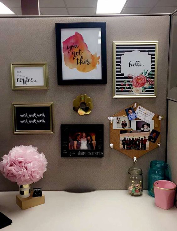 20 creative diy cubicle workspace ideas house design and How to decorate your office