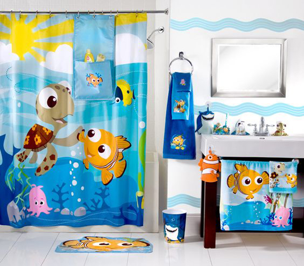 10 finding nemo themed bathroom for kids house design and decor - Finding nemo bathroom sets ...