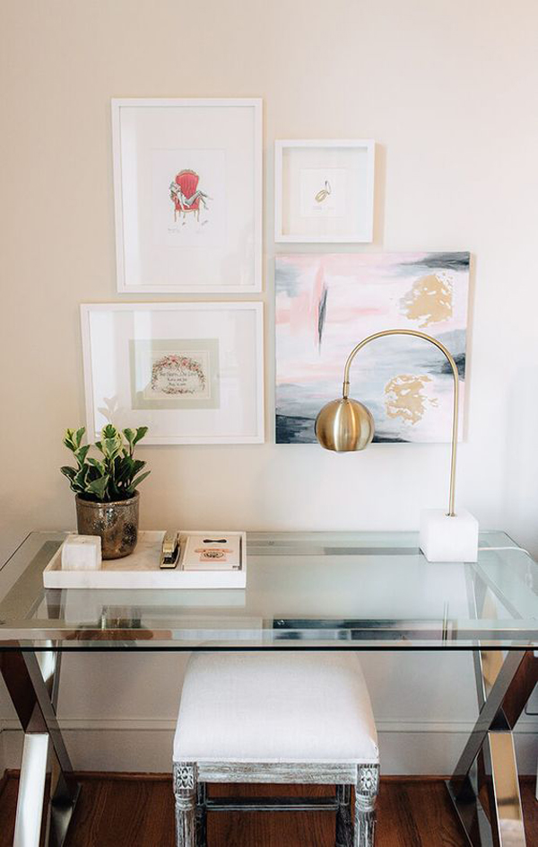 Minimalist feminine desks design ideas