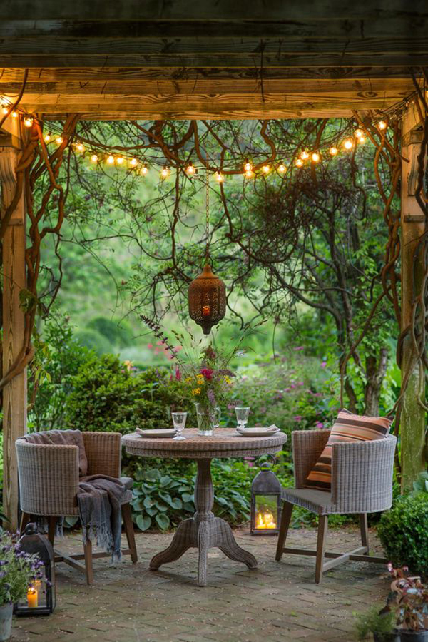 20 Cozy and Romantic Pergola Decor Ideas | House Design ... on Romantic Backyard Ideas id=35092