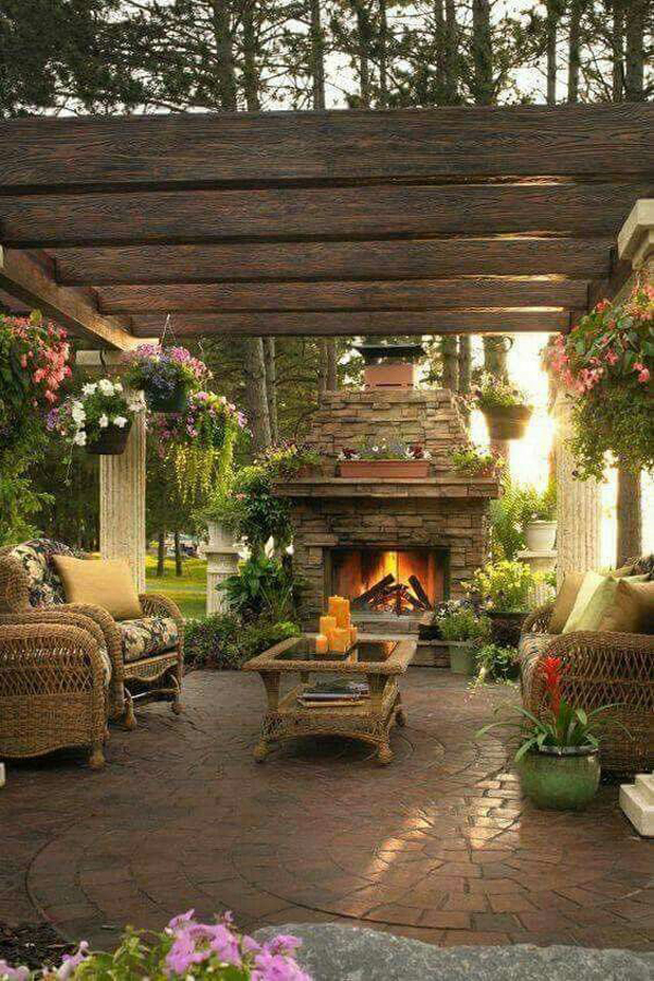 20 Cozy and Romantic Pergola Decor Ideas | House Design ... on Cozy Patio Ideas id=88463