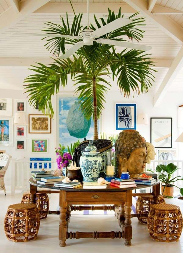 25 mesmerizing coastal interiors with tropical elements for Tropical home interior design ideas