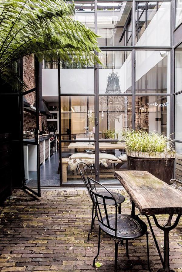 Indoor Outdoor Kitchen Ideas With Wood Furniture