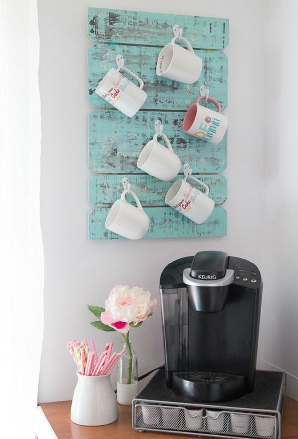 10 Best Mug Organization With Wooden Pallet Projects