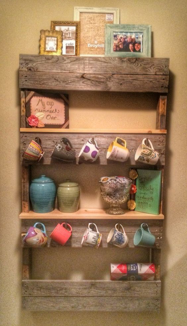 10 best mug organization with wooden pallet projects ForMug Racks Ideas