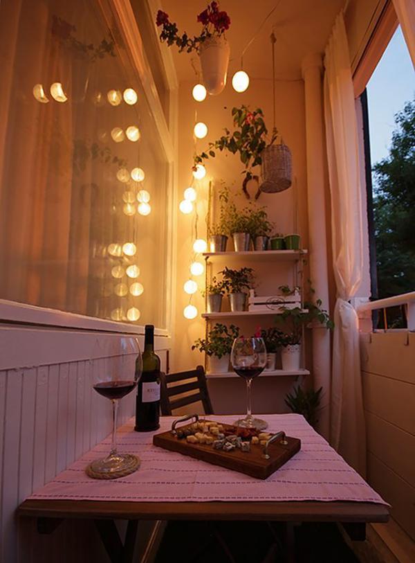 Balcony Ideas Apartment Lights