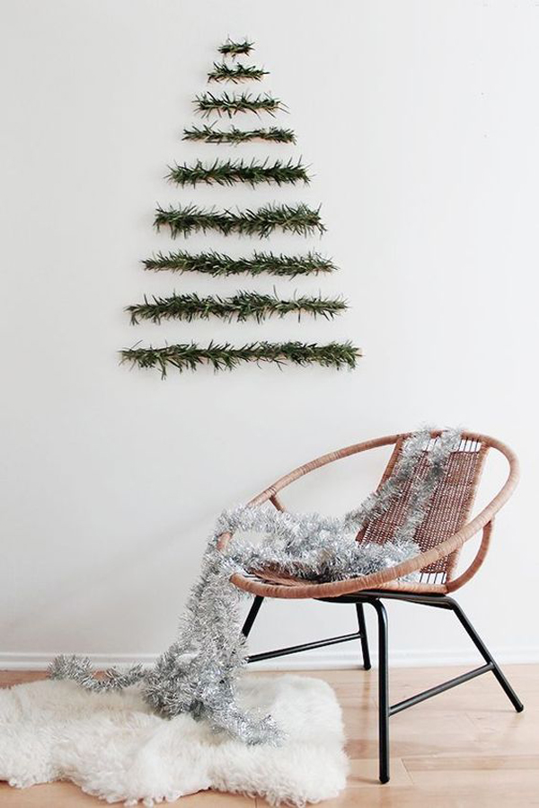 25 simple and creative christmas trees in the wall house design and decor - Creative modern christmas tree designs for christmas celebration ...