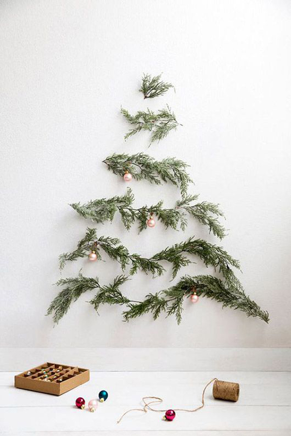 simple christmas tree wall decor ideas