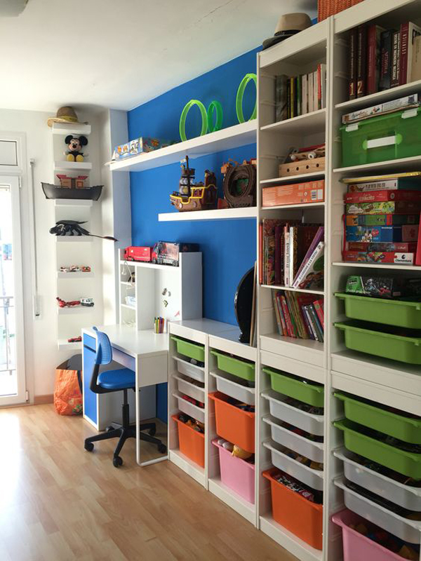 Kids Study Room Design: Kids-study-room-with-ikea-trofast-cabinets