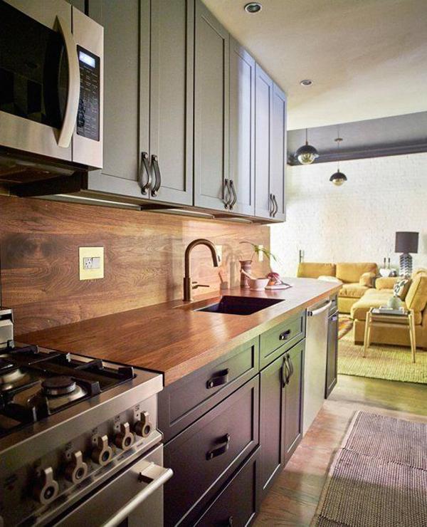 Chic And Modern Wooden Kitchen Backsplashes Ideas