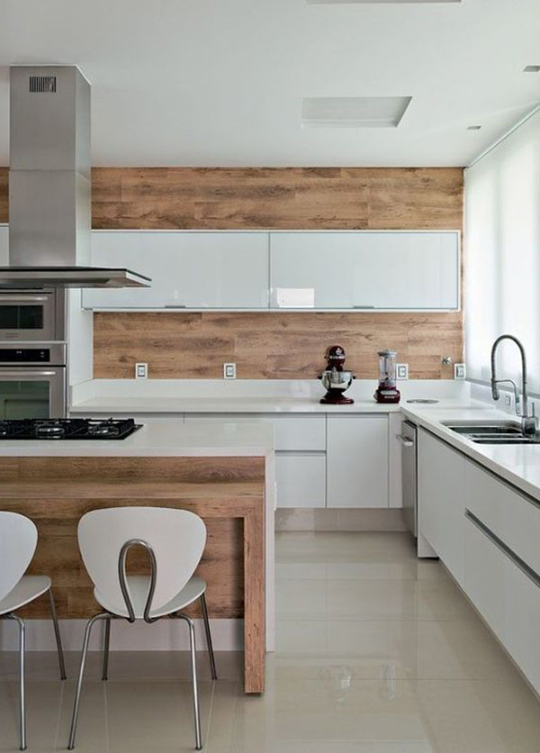 20 Wood Kitchen Backsplashes with Modern Touches