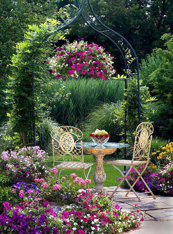 20 Most Beautiful Secret Gardens and Romantic Areas ... on Romantic Backyard Ideas id=66949