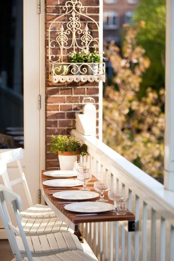 25 Creative Ways to Make Dining Area in Balconies