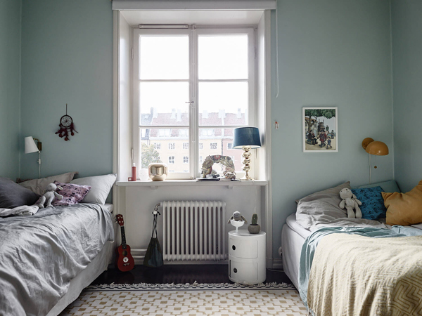 Stockholm Tiny Apartment with Shared Kids Room