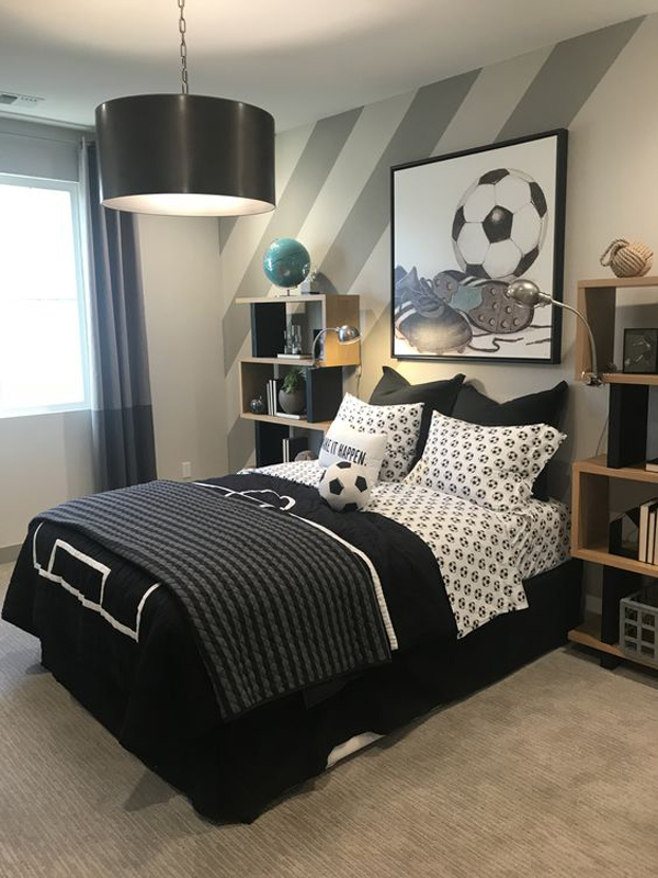 35 Coolest Soccer Themed Bedroom Ideas For Boys