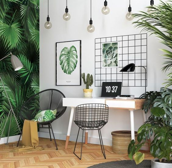 42 Natural Home Office Design That Bring More Spirits