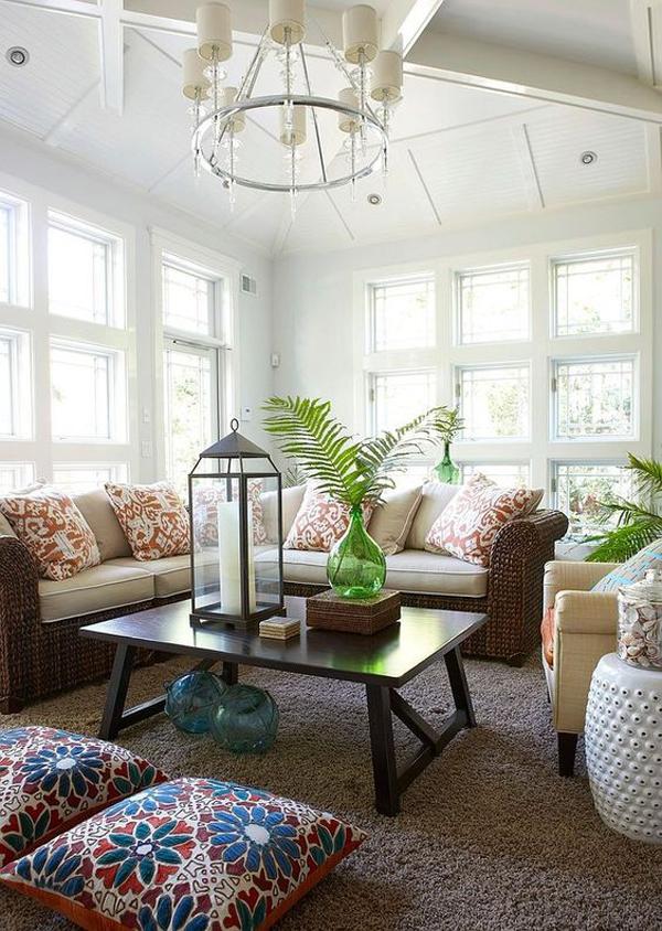 32 Best Beach House Interior Design Ideas And Decorations For 2020: 25 Cozy Sunroom Decor Ideas With Tropical Theme