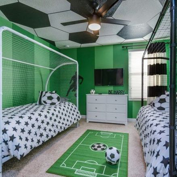 9 Coolest Soccer Themed Bedroom Ideas For Boys
