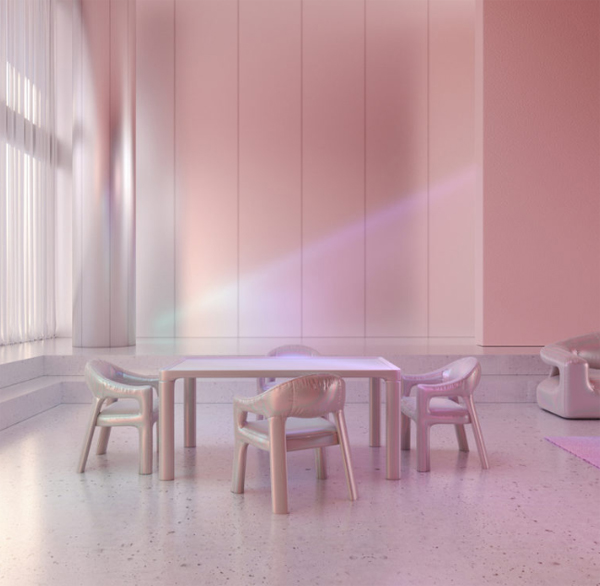 Holographic 3D Furniture Combination With Photography And Designs