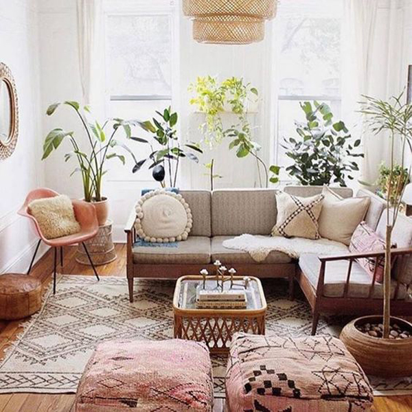 remarkable bohemian chic living room ideas | 34 Boho-Chic Living Room Decor Ideas You'll Must Have