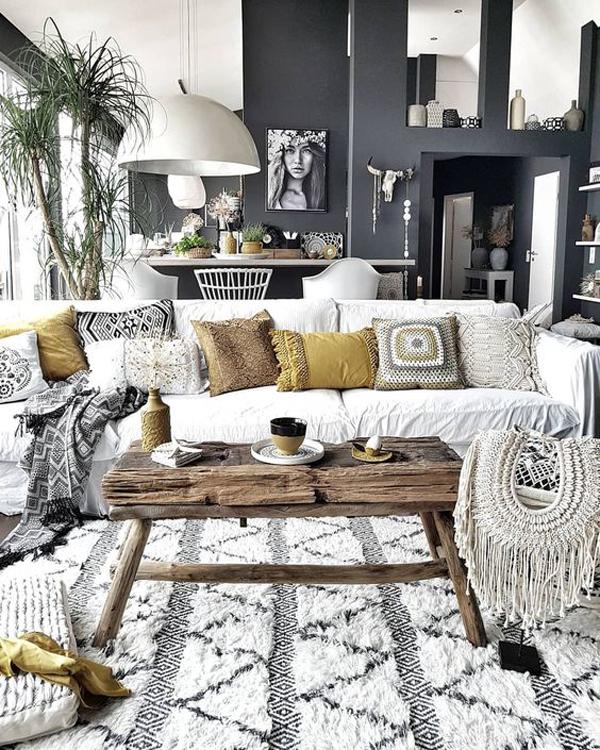 34 Boho Chic Living Room Decor Ideas