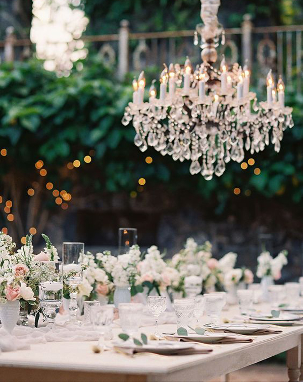 20 Inspirational of Romantic Weddings With Chandeliers
