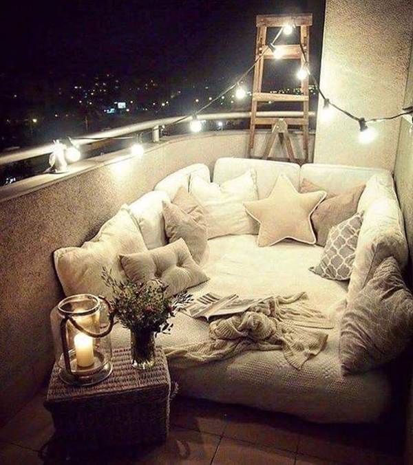 25 Cozy And Creative Ways To Make Bedrooms In Your Balcony