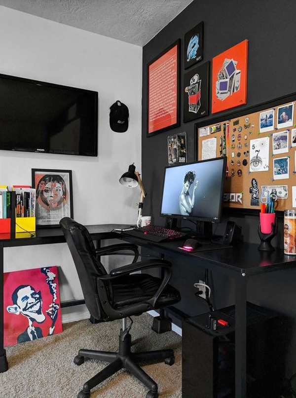 20 Coolest Boys Bedroom Ideas With Computer Gaming Desks