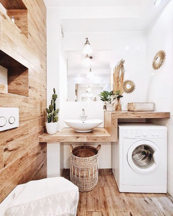 32 Modern Laundry Room Ideas In Bathroom For Small Spaces