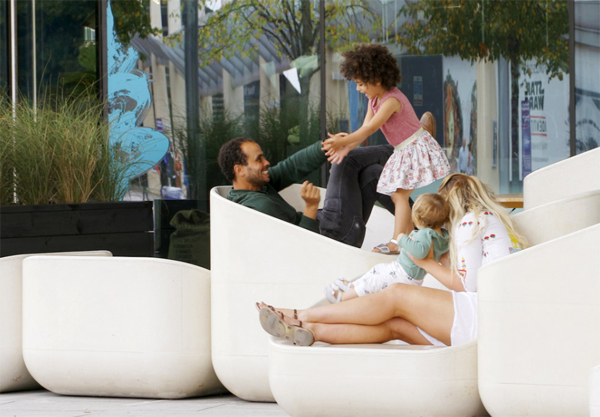 Steps | Outdoor Concrete Armchairs For Enjoyed All Ages