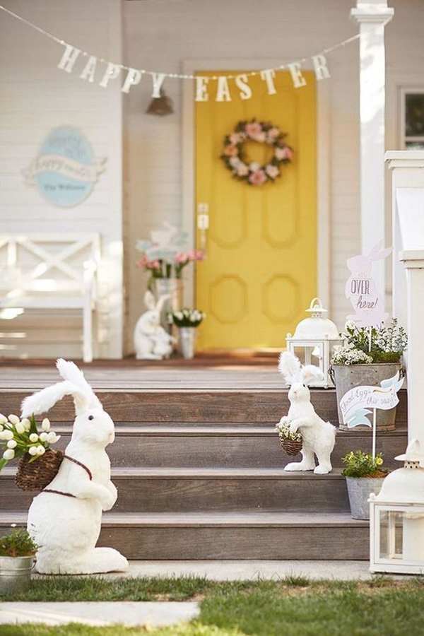 34 Fun And Easy Easter Decor For Your Outdoor Space
