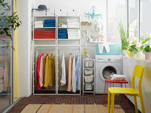 IKEA Inspired: How To Make Flexible Laundry Room With Jonaxel Storage System